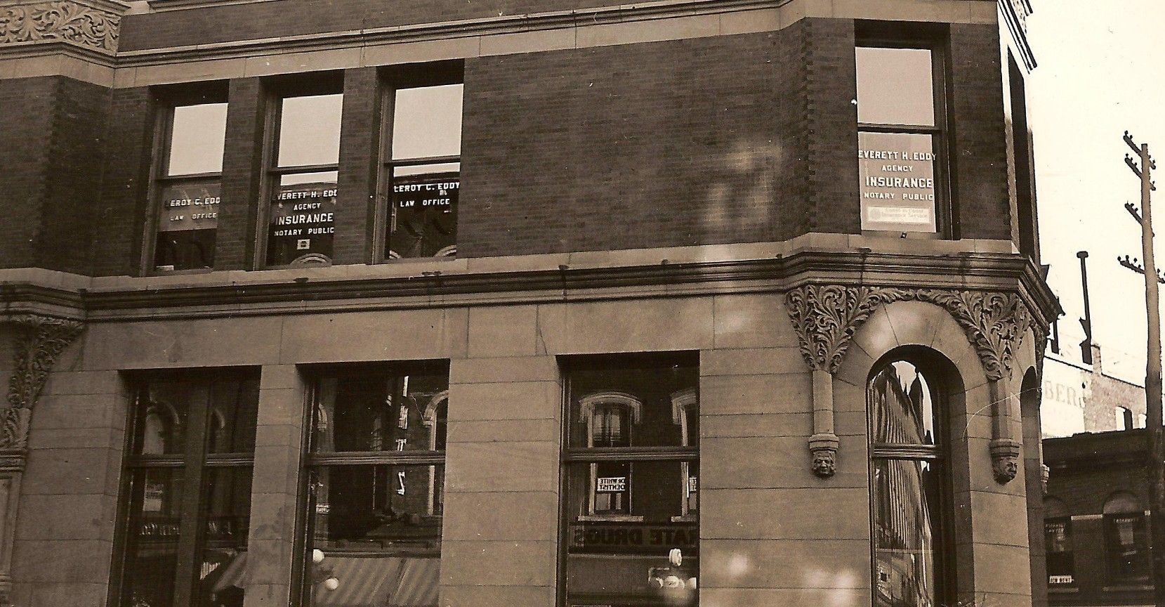 1935 Six Photographs Of The Everett H Eddy Insurance Agency And