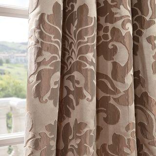 Astoria Taupe Mushroom Faux Silk Jacquard Curtains
