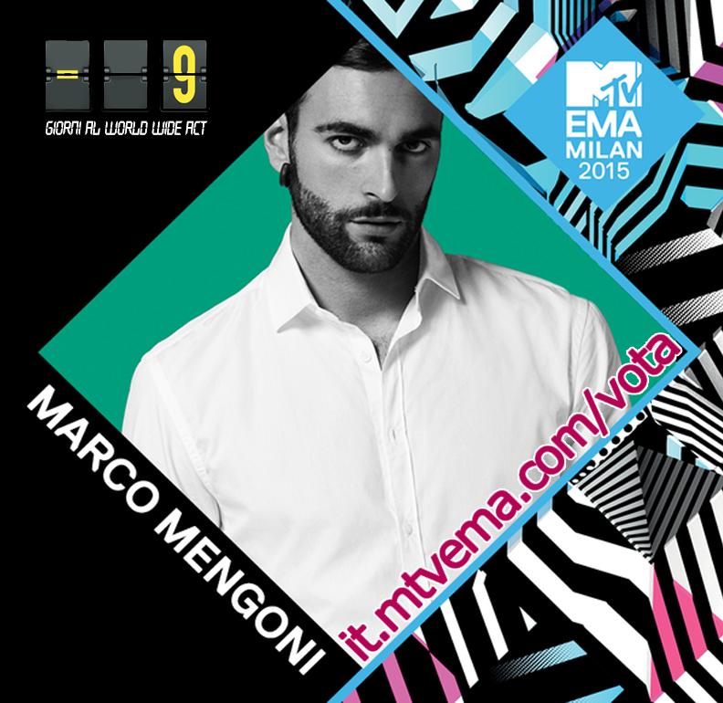 Vota Marco Mengoni ai World Wide act Europe ! Fino al 24 OTTOBRE !