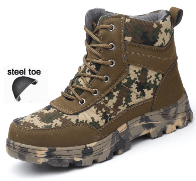 Men Safety Work Boots Winter Steel Toe Big Boys Toyz