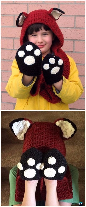 Crochet Fox Scoodie with Pockets Free Pattern - Crochet Hoodie Scarf ...