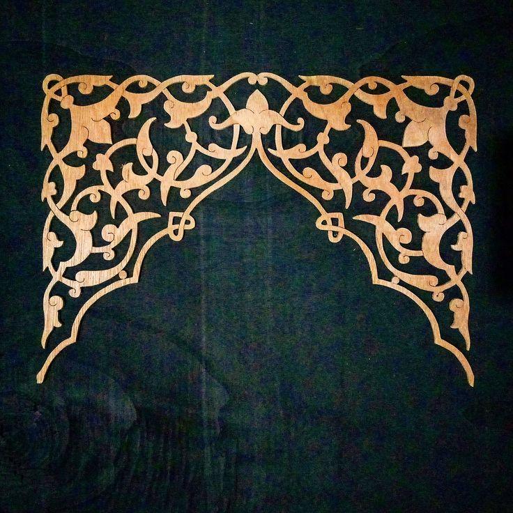 Kaligrafi Sanat desen, Şablon baskı, Desenler