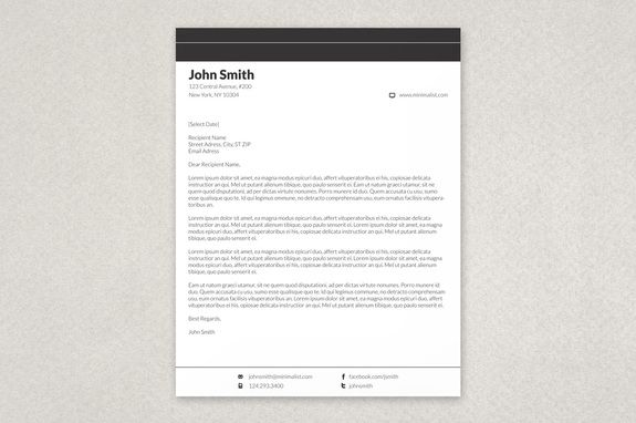 Minimalist Letterhead Template - A simple, clean and elegant