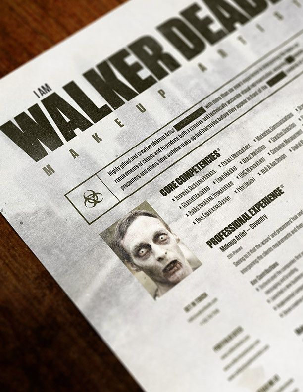 the walking dead photo resume http foundresumes com resume