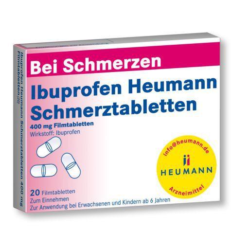 IBUPROFEN Heumann Schmerztabletten - Bei leichten bis mäßig starken Schmerzen, Fieber.