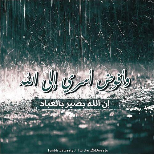 و أفوض امرى الى الله إن الله بصير بالعباد Islamic Quotes Quran Quotes