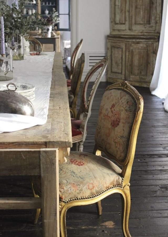 Pin by gizelle. on || RUSTIC ELEGANCE || | Pinterest | French ... French Farmhouse Rustic Interior Design on rustic shabby chic interiors, rustic garden shed, rustic french country living room, french cottage interiors, french home interiors, rustic french country kitchen, rustic wood farmhouse dining room table,