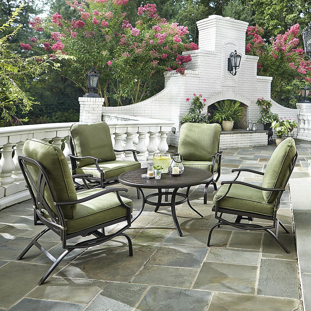 grand resort gardendale 5pc chat set green outdoor living