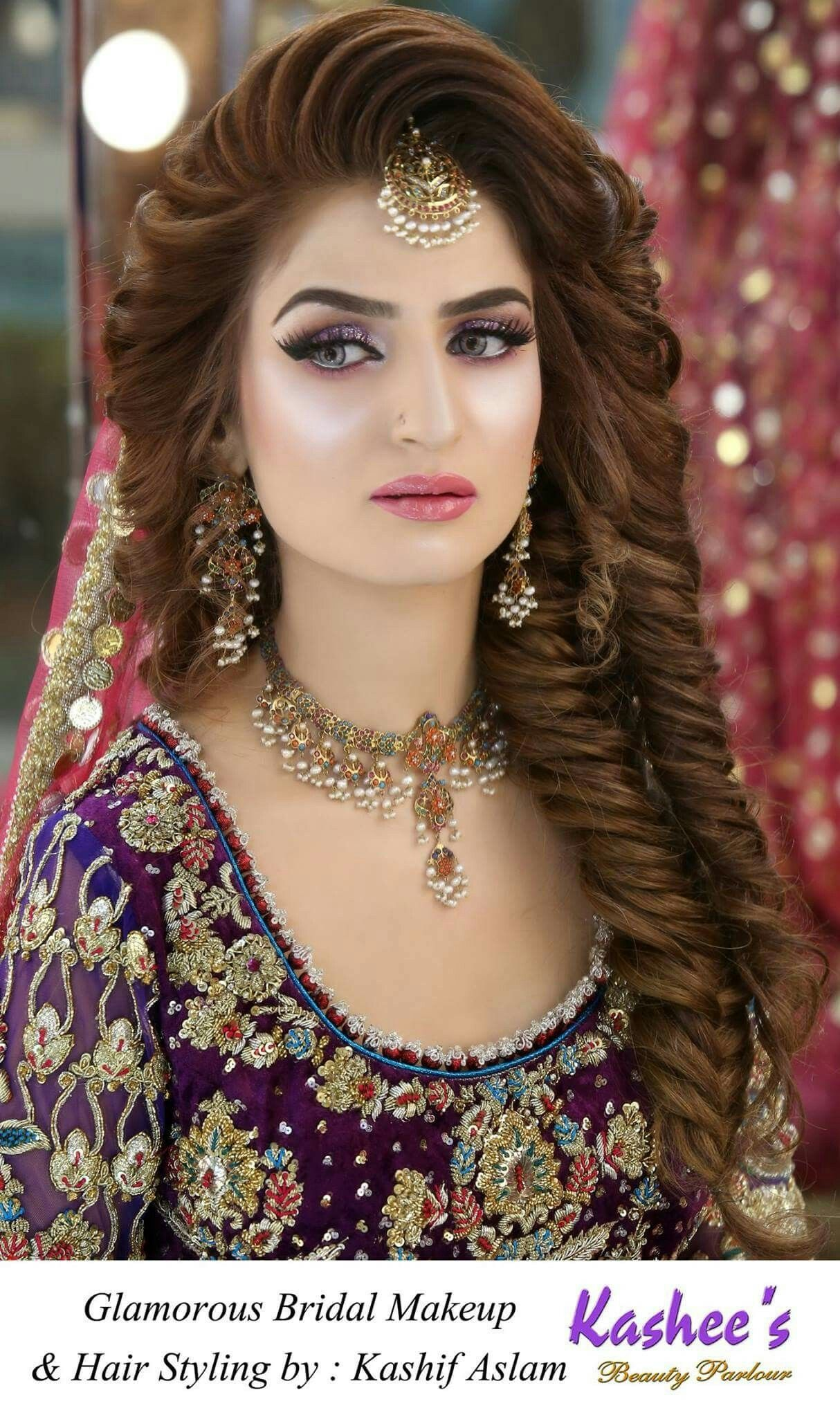 Make up & Hair styling Pakistani bridal hairstyles