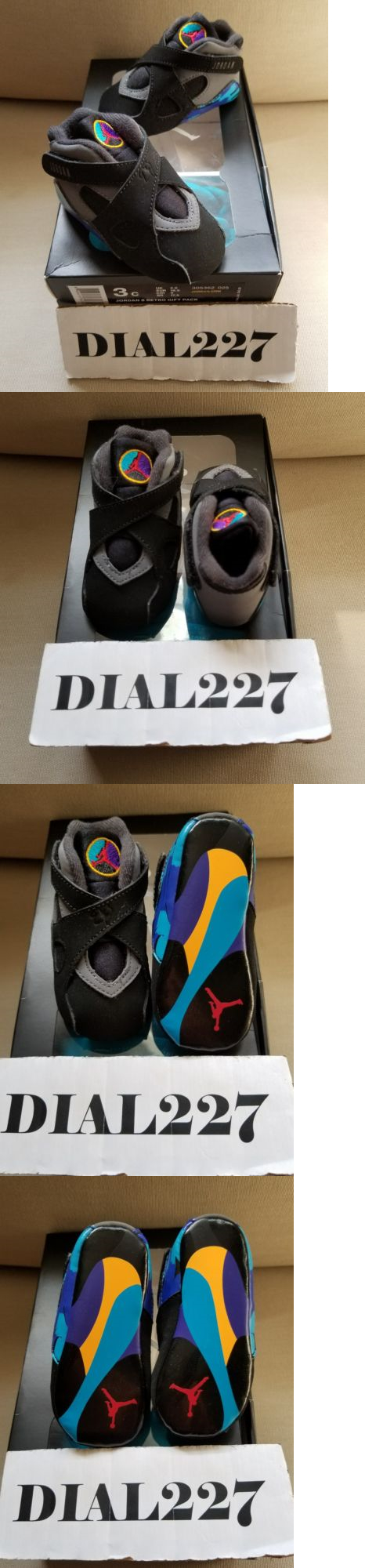 854099f4421a7a Baby Shoes 147285  Nike Air Jordan 8 Viii Aqua Set Size 3C Soft Bottom With  Newborn Hat -  BUY IT NOW ONLY   39.99 on eBay!
