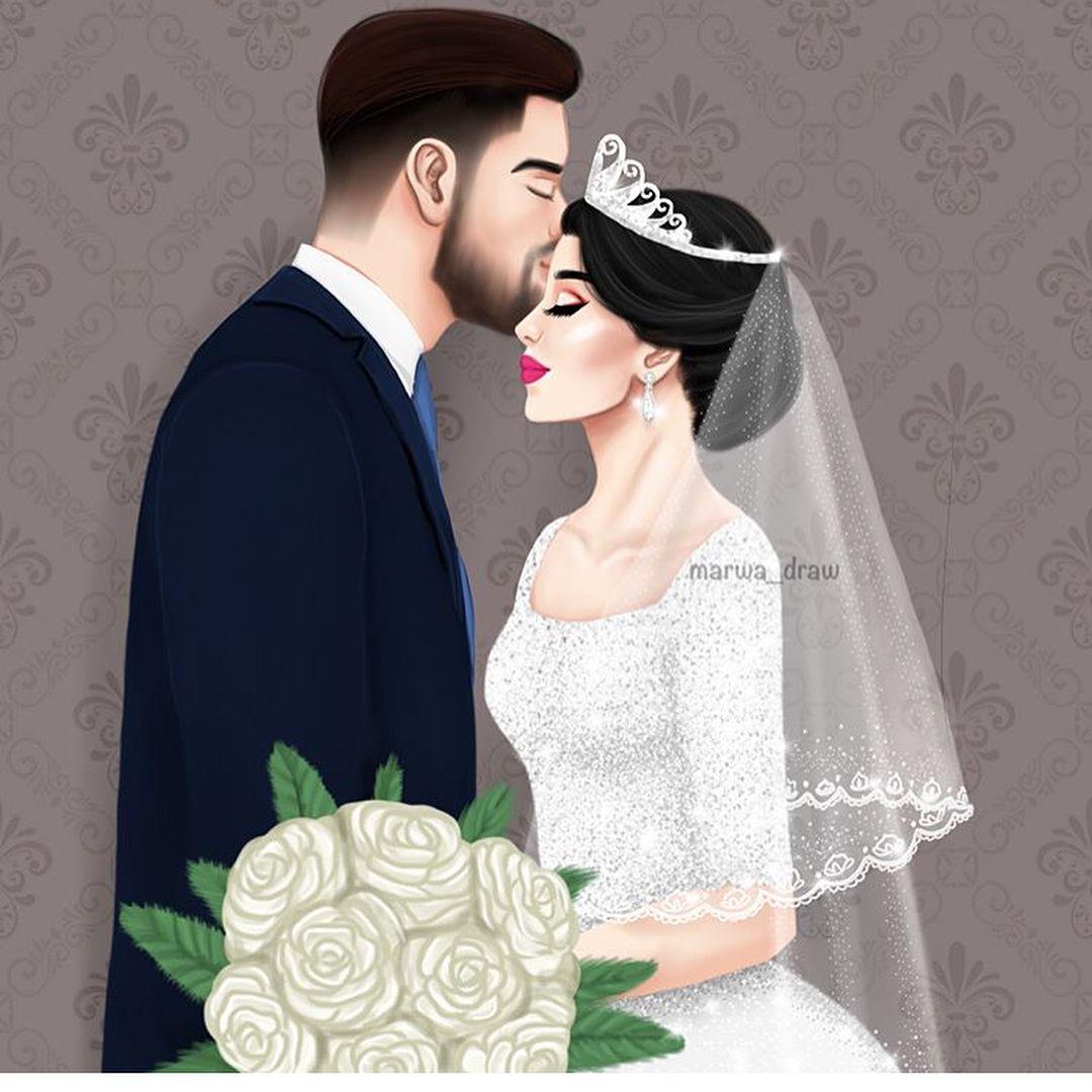 فـاشـنـيـسـتـا En Instagram يارب هاللحظات لكل بنت وشاب Fashionyista صور كارتونية للحلوات Ilustracao De Casamento Casamento Desenho Desenho De Casal