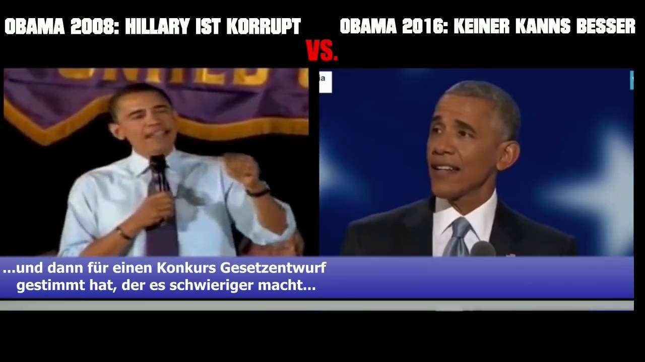 Obama über Clinton: Für wie dumm man die Wähler verkauft! How stupid to ...