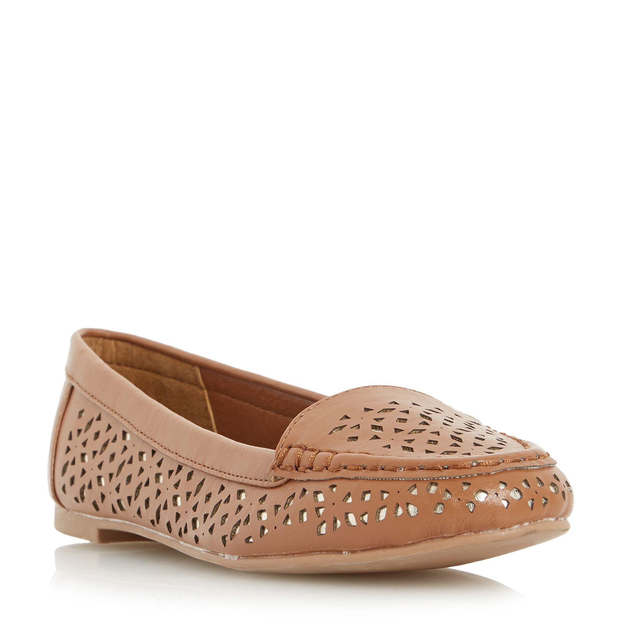 Head Over Heels Hasier laser cut loafers, Tan