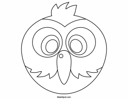 Parrot Mask To Color Teatro Mascaras 1 Mask For Kids
