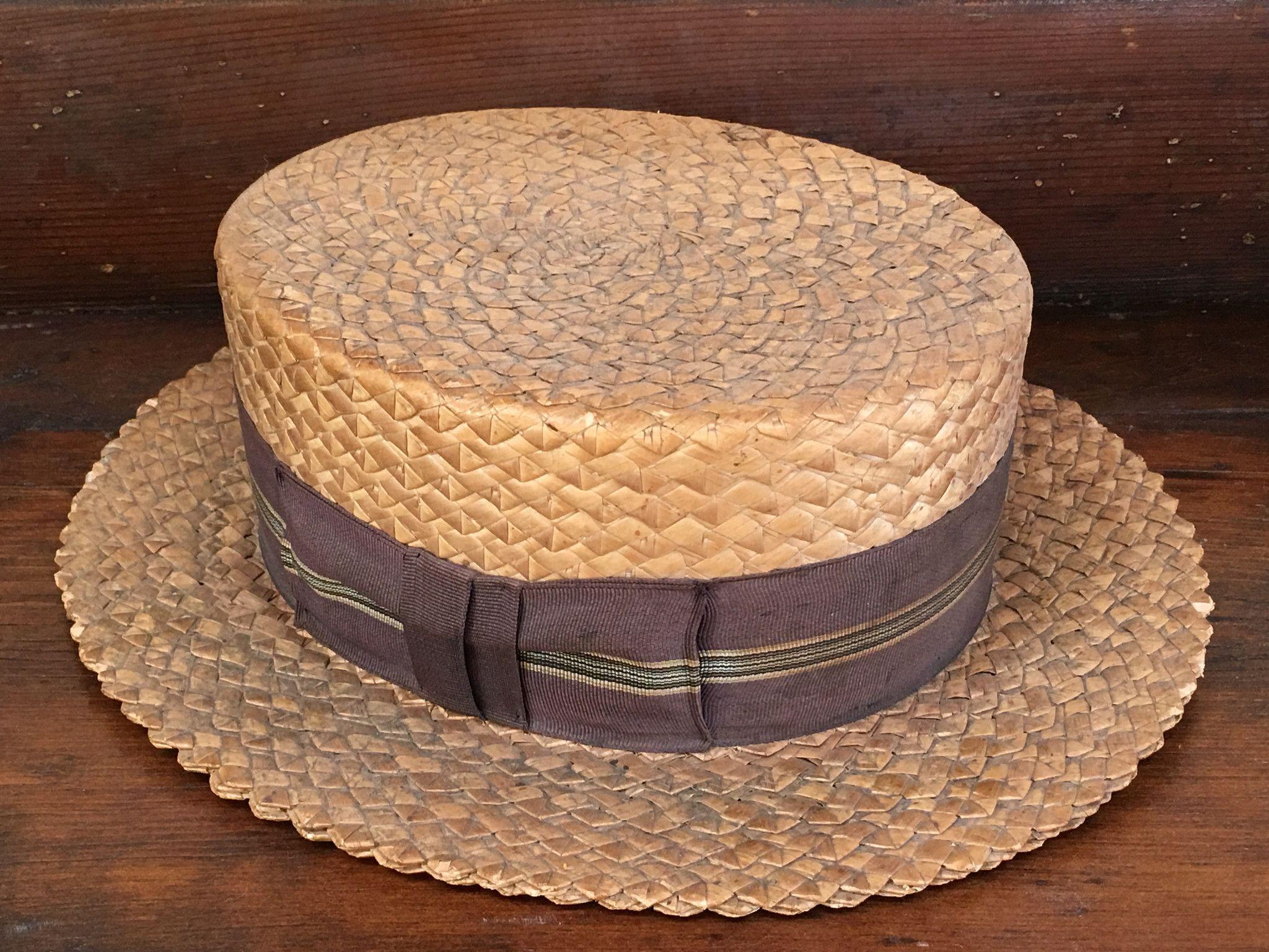 68b4611e Vintage Straw Hat C.1920 | Hats | Hats, Vintage men, Hats for men
