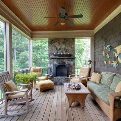 Stained Beadboard On Patio Ceiling Porch Design House With