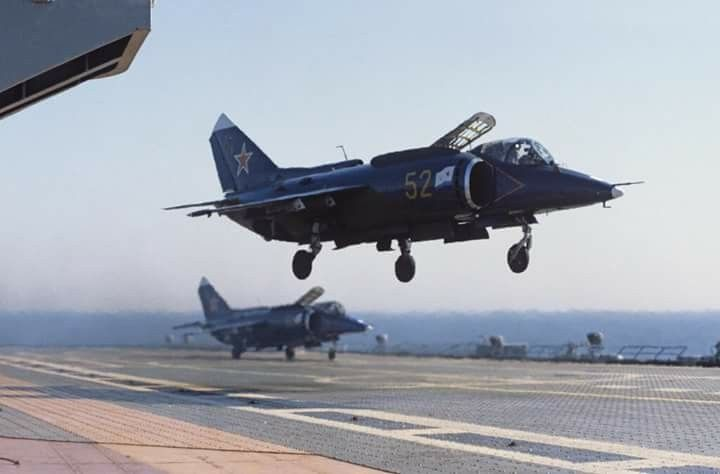 Yak-38 Forger assigned to the Soviet Aircraft Carrier Novorossiysk.