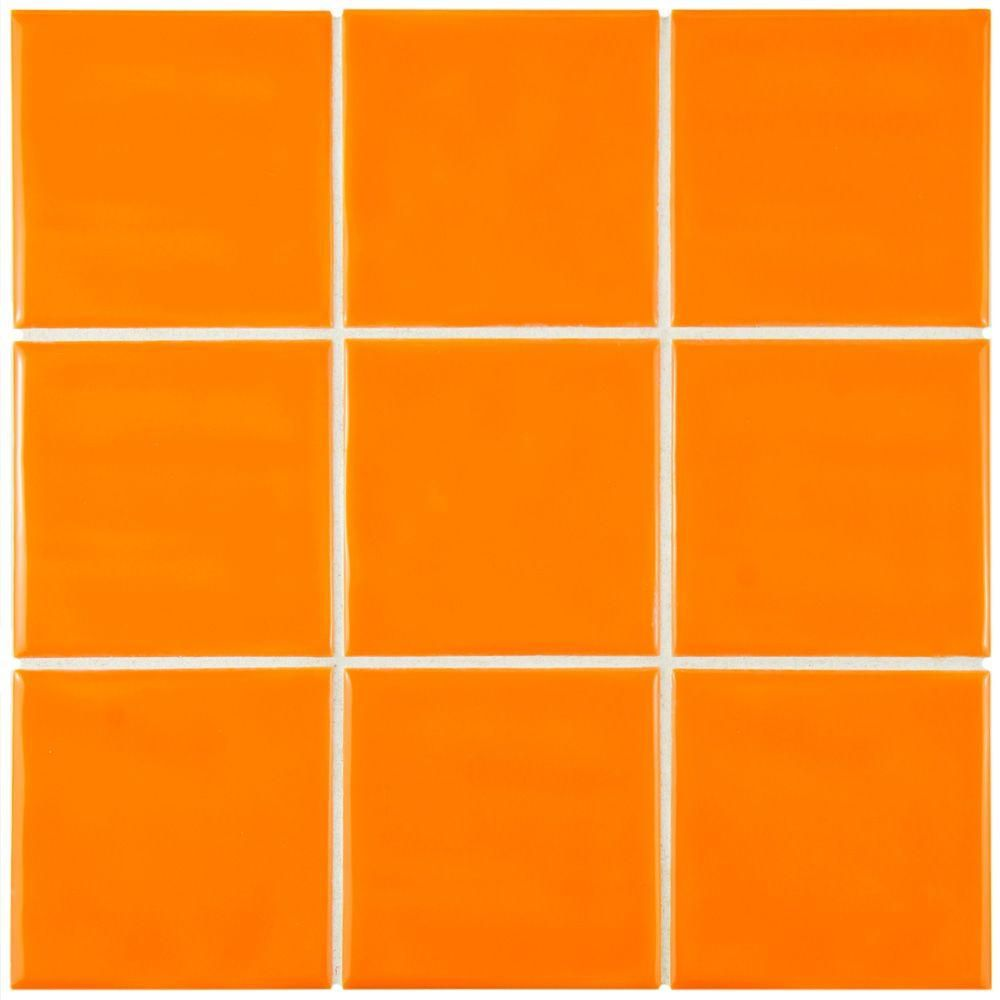 Orange Tile | Tile Design Ideas