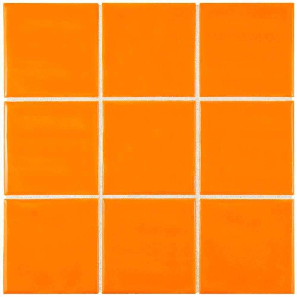 Merola Tile Twist Square Orange Sunset