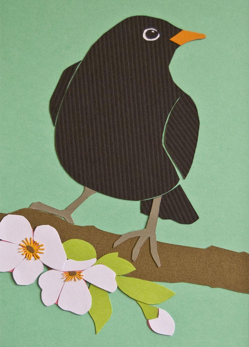 Птички аппликация картинки