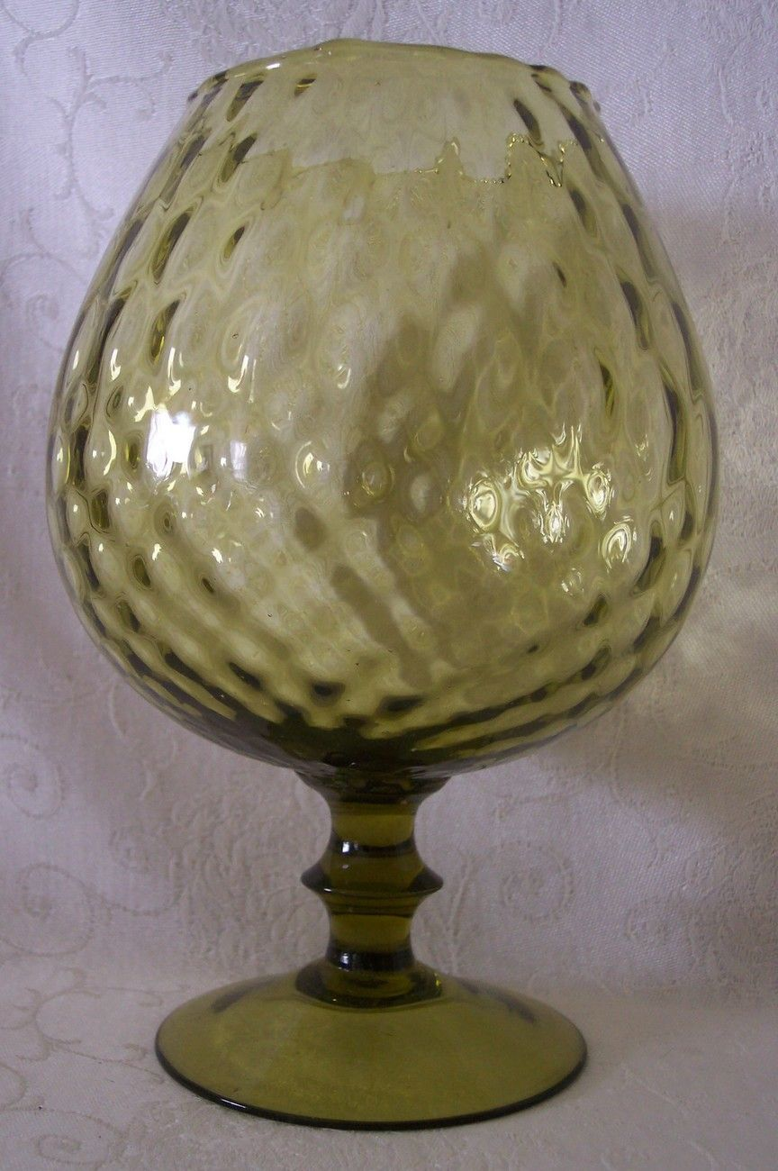 Brandy snifter vase blown glass optic quilted bubble applied stem brandy snifter vase blown glass optic quilted bubble applied stem green modern reviewsmspy