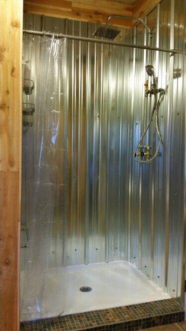 galvanized shower home remodel huntington pinterest. Black Bedroom Furniture Sets. Home Design Ideas