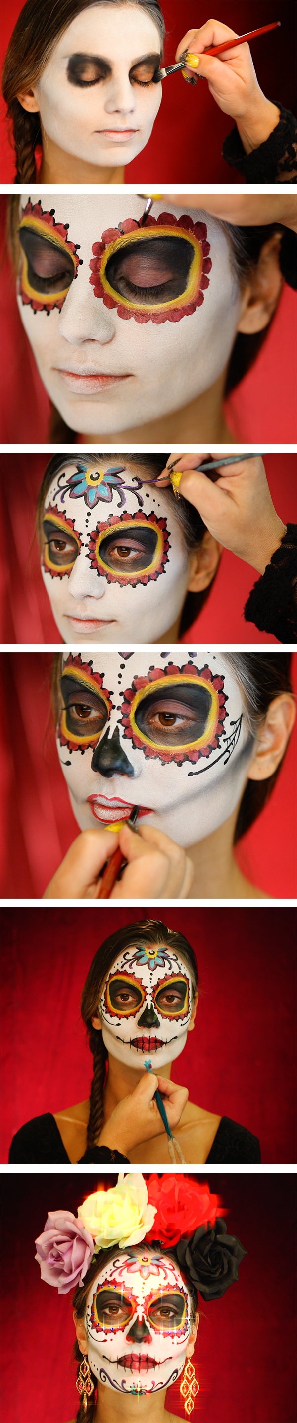 How Do We Celebrate The Day Of The Dead With A Lot Of Spirit And A - Day-of-the-dead-makeup-tutorial-video
