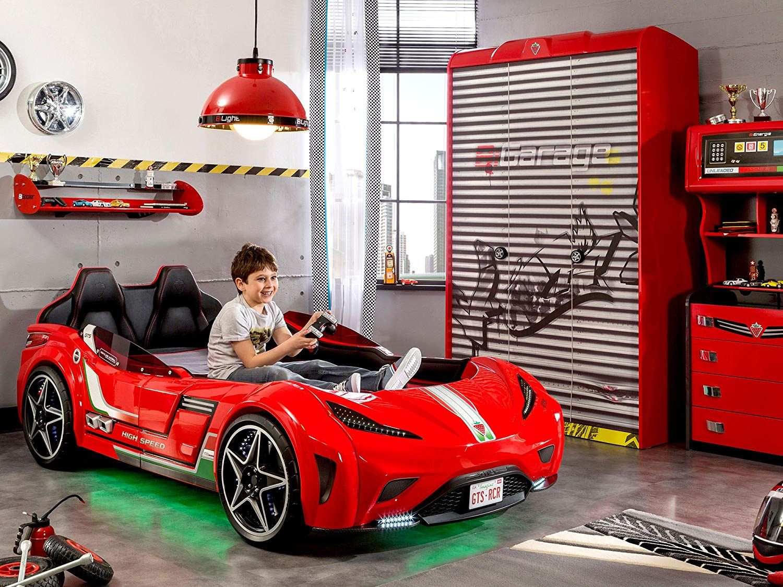 Cilek 20.02.1350.00 GTS Race Car Children Bed Frame, Twin