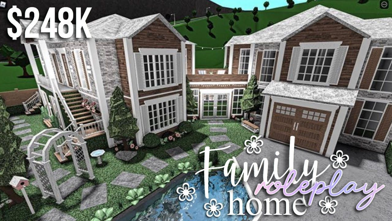 Family Roleplay Home Roblox Bloxburg Gamingwithv Youtube Sims House Design Two Story House Design Home Roblox