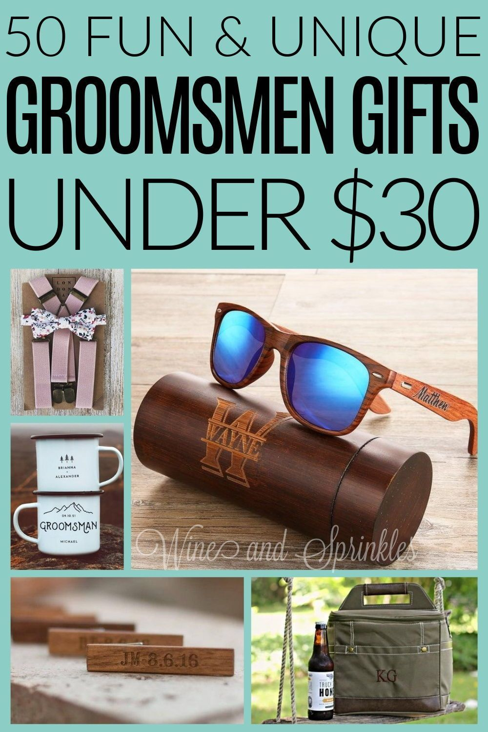 50 cheap and unique groomsman gifts under 30 wine