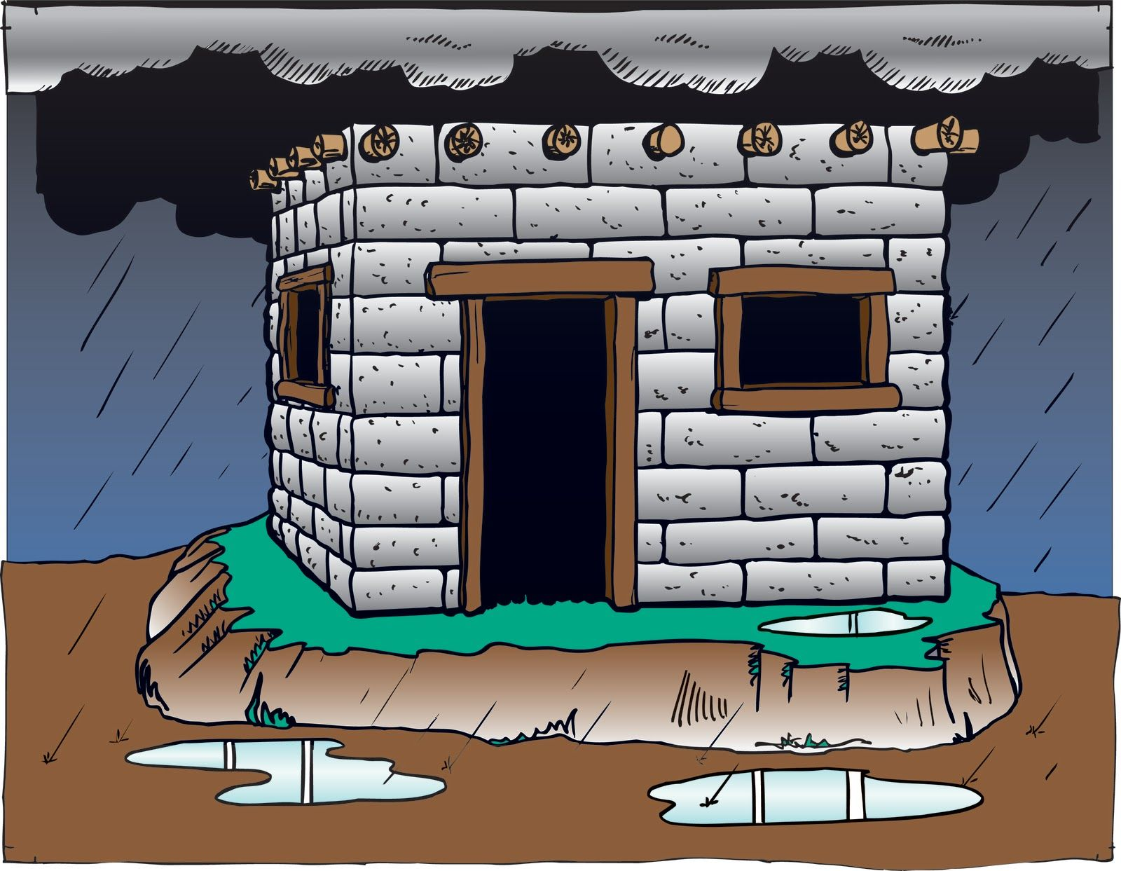 Wise man built his house upon the rock sermon - Wise Man Built His House Upon The Rock Craft Children S Ministry Blog The Wise