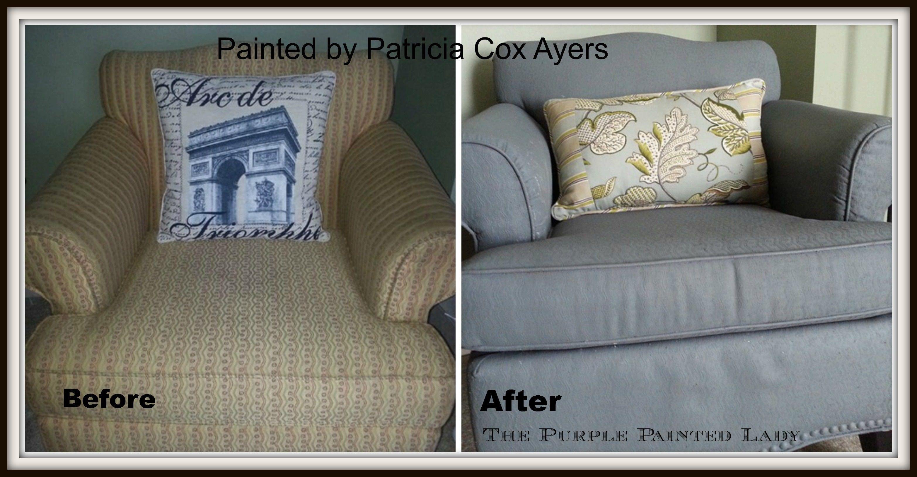 Using Chalk Paint To Paint Your Couch Or Wing Back Chair Fabric Or Leather Painting Fabric Furniture Painted Sofa Painting Leather