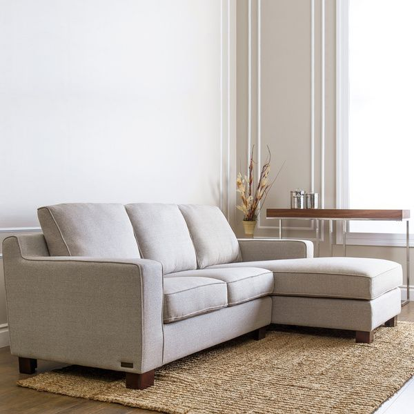 Best Abbyson Sectional Sofa With Chaise In Light Grey Grey 400 x 300