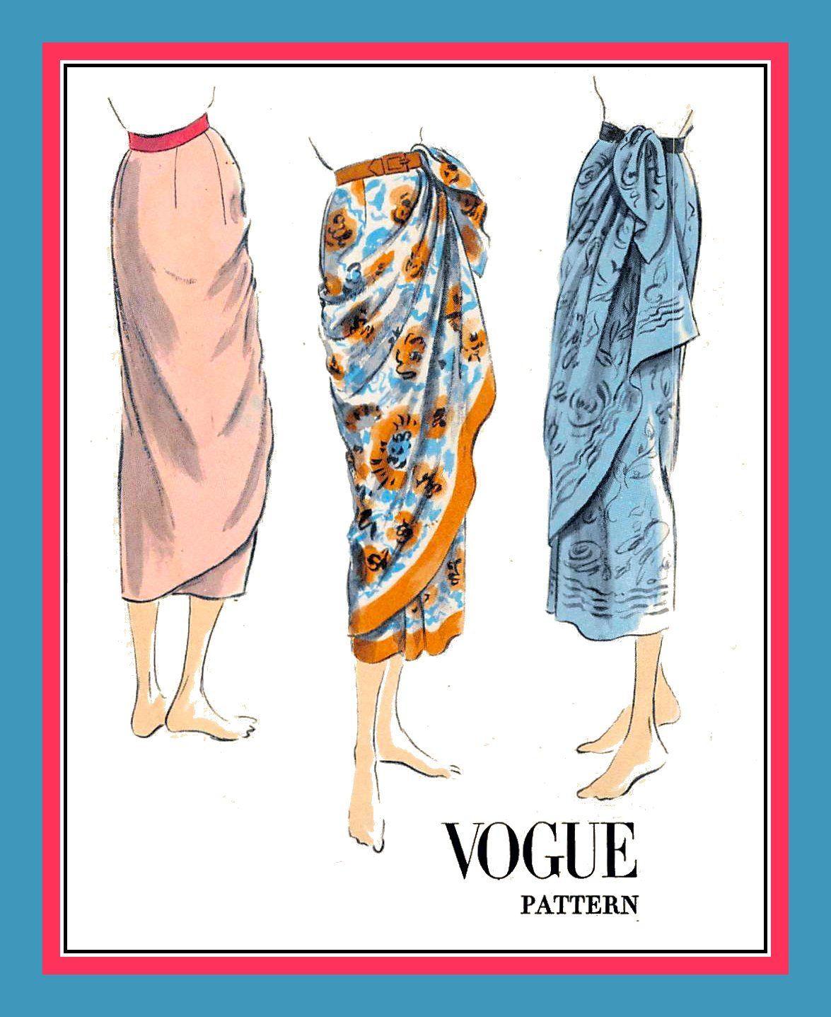 Sarong Pattern : sarong, pattern, Sewing, Pattern, Sarong, Skirt