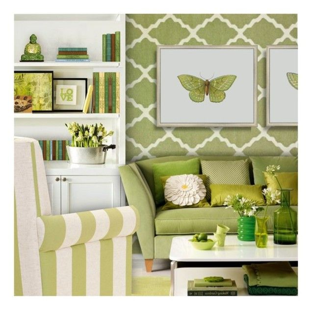 """""""Spring Green"""" by debraelizabeth ❤ liked on Polyvore featuring interior, interiors, interior design, home, home decor, interior decorating, Spicher and Company, Big Fish, Universal Lighting and Decor and EASTON"""