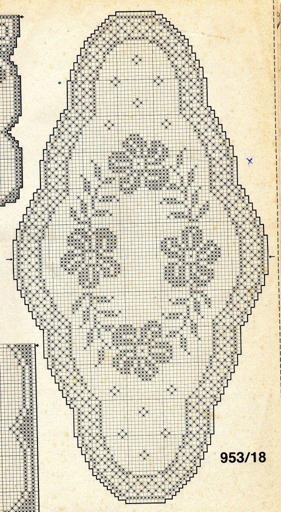 Centri Uncinetto Filet Schema Ovales Tapetes De Ganchillo