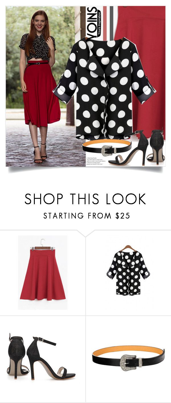 """Yoins: Midi Skirt"" by yoinscollection ❤ liked on Polyvore"