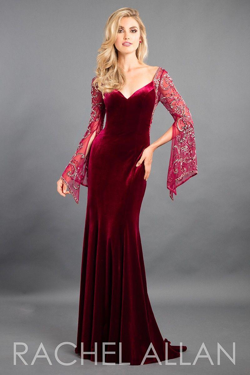 Rachel allan velvet evening gown in rachel allan couture
