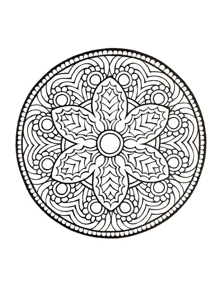 Mandala Coloring Pages On Pinterest. Mandala on Pinterest  Coloring Mandalas and