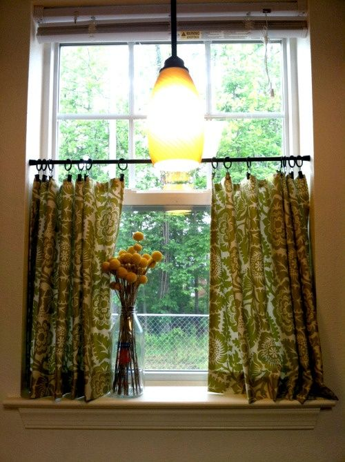 Fitted Kitchen Curtains For Privacy Fabric Panels Shirred Top