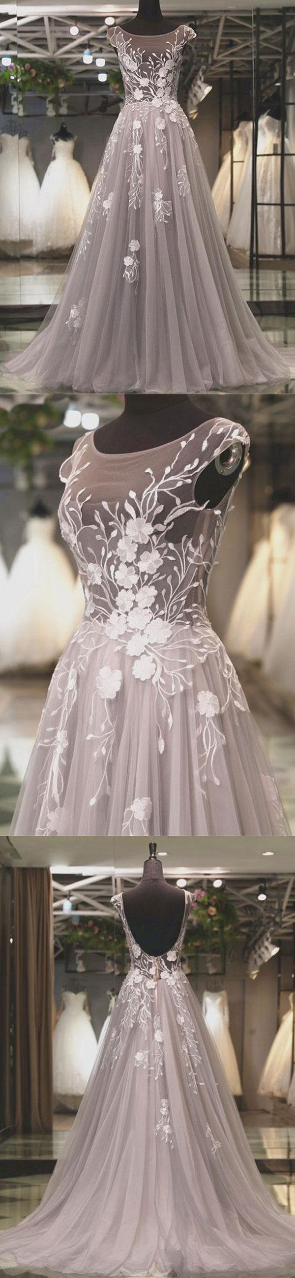 chic a line prom dress silver cheap long prom dress vb in