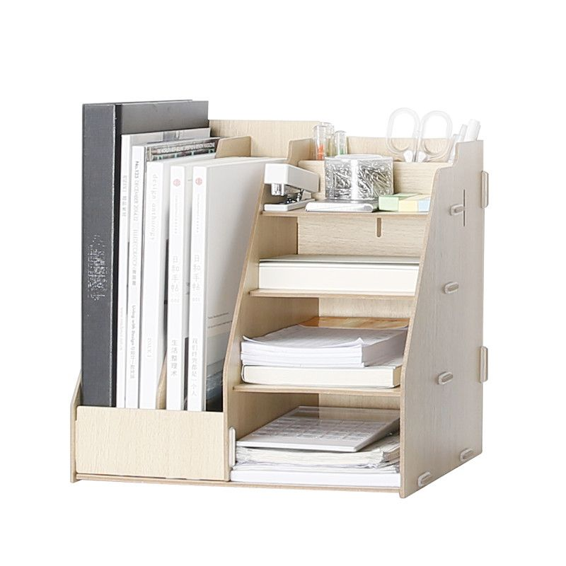 Modern Desk Organizer Wooden Multi Use Desk Organizer Office Sundries Storage