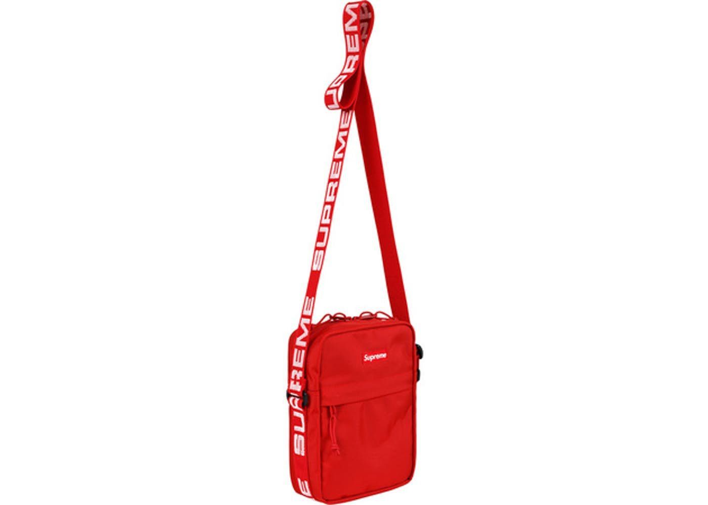 119231a83c Supreme Shoulder Bag (SS18) Red in 2019 | Bags | Red shoulder bags ...