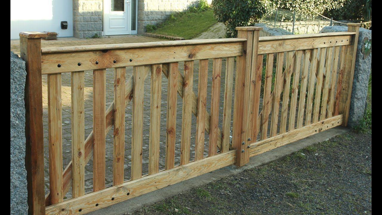 Pallet Wood Driveway Gates Cancelas En Madera De Paleta Portail En