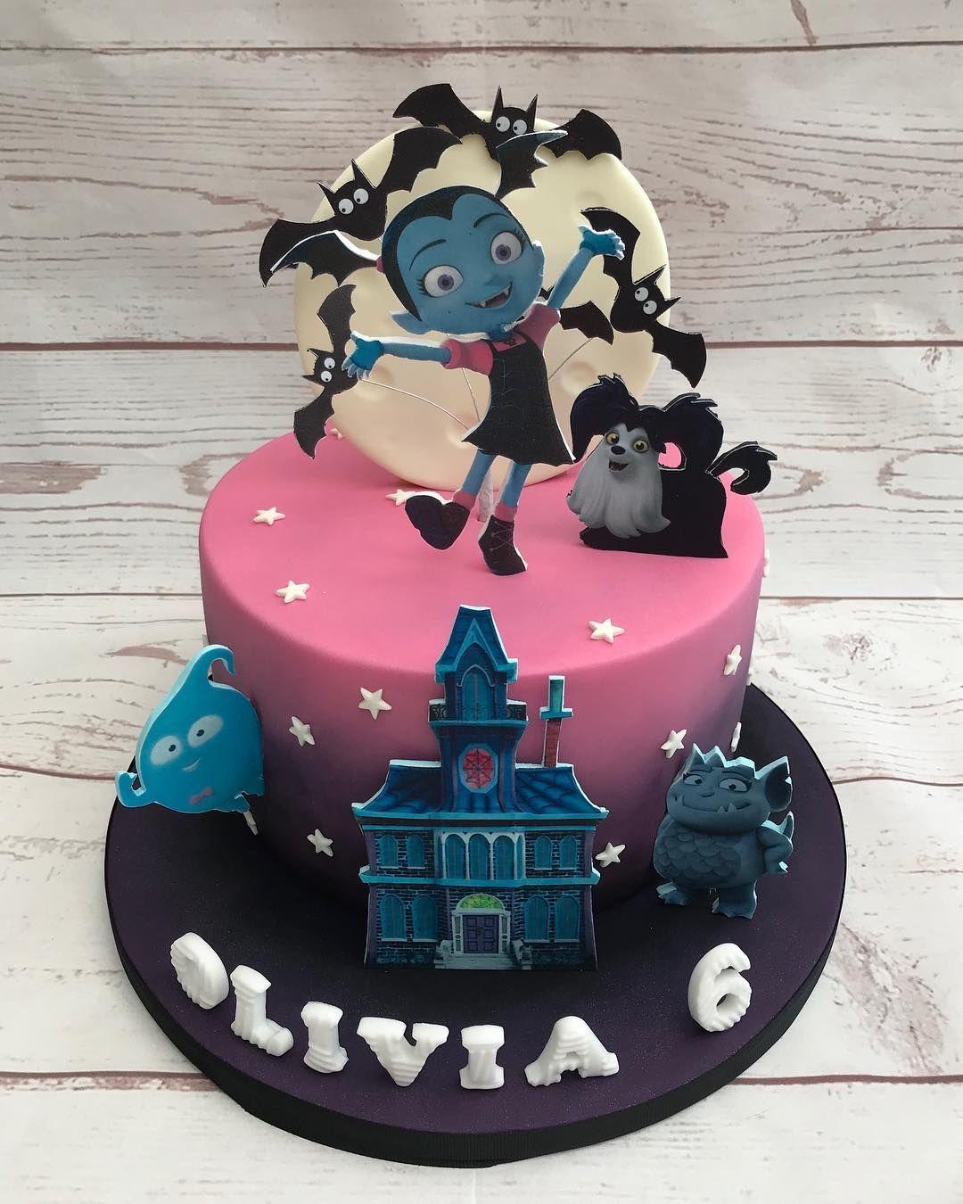 Fine Vampirina Birthday Cake Birthday Party Cake 3Rd Birthday Funny Birthday Cards Online Aboleapandamsfinfo