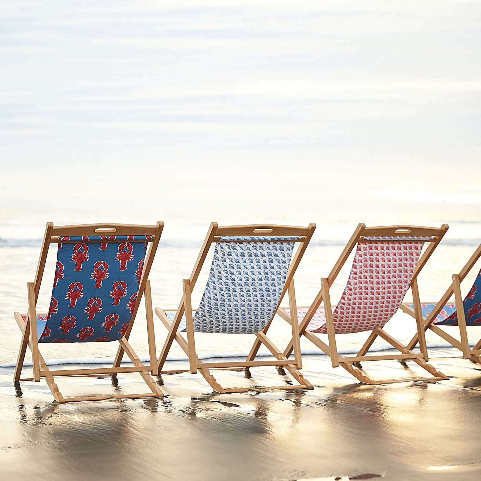 Recover Sling Patio Chairs Painted Windsor A Place To Relax Nautical H2o Pinterest Beach Chair