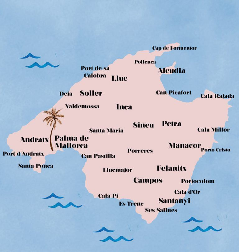 Die Schonsten Seiten Der Insel In 2020 Mallorca Karte Mallorca