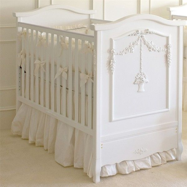 Afk French Panel Flower Basket Crib 2 682 Liked On Polyvore Featuring Home Children S Room Children S Furnitu Luxury Baby Crib Baby Furniture Baby Cribs