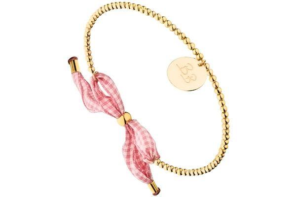 Bracelet jonc boules initiales bb vichy rose 55mm brigitte bardot brigitte bardot Bijoux brigitte catalogue