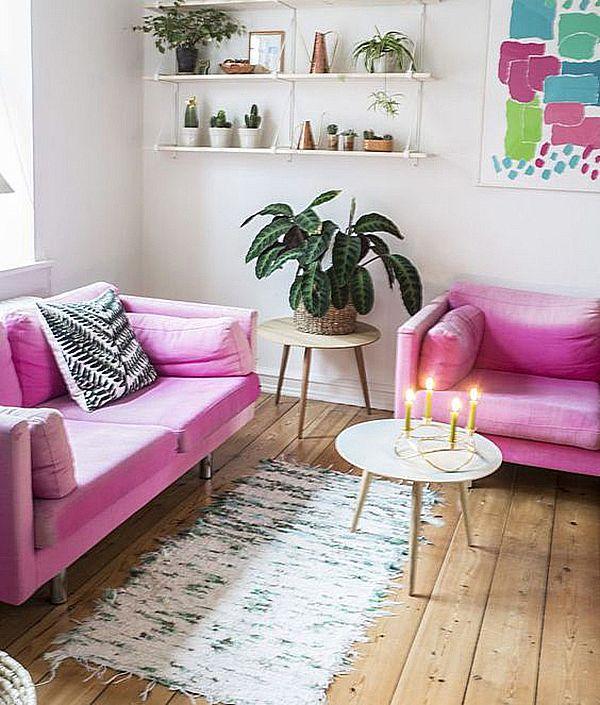 20 Salas Com Sofá Rosa  Constance Zahn  House Endearing No Furniture Living Room Inspiration Design